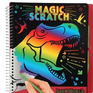 Dino World Cuaderno Magic-Scratch