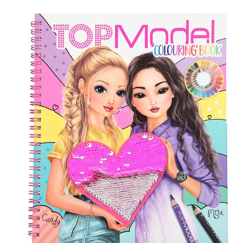 TOP Model Cuaderno de Colorear con Lentejuelas