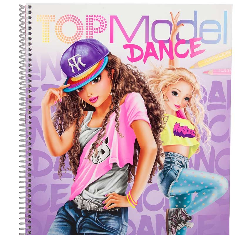 TOP Model Cuaderno Dance para Colorear