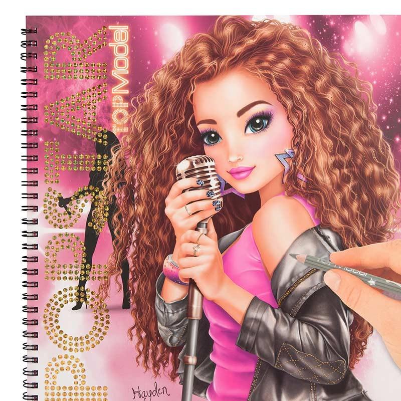 TOP Model Libro Popstar para Colorear