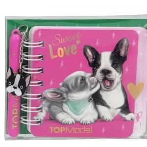TOP Model Mini Blog con Bolígrafo de Perro