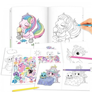 Cuaderno para Pintar Ylvi Create Your Unicorn