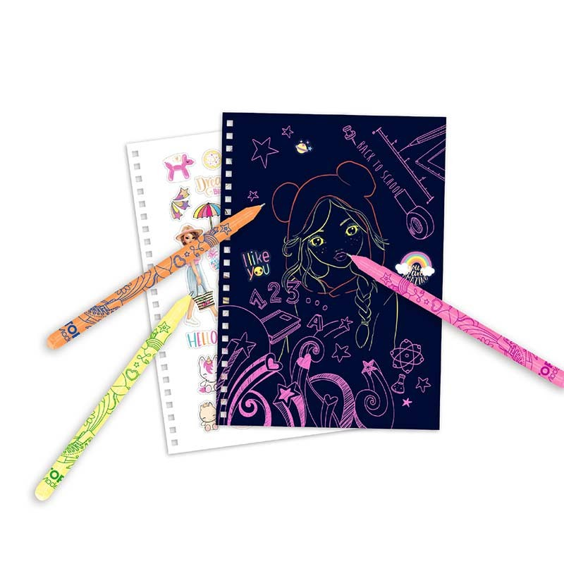 TOP Model Neon Doodle Book con Bolígrafos