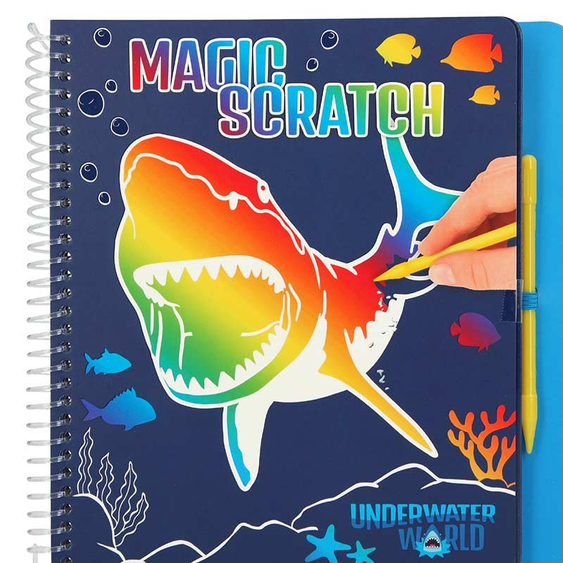 Dino World Libro para Colorear Magic Scratch