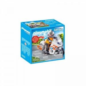 Playmobil City Life Moto de Emergencias