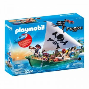 Playmobil Pirates Barco Pirata con Motor