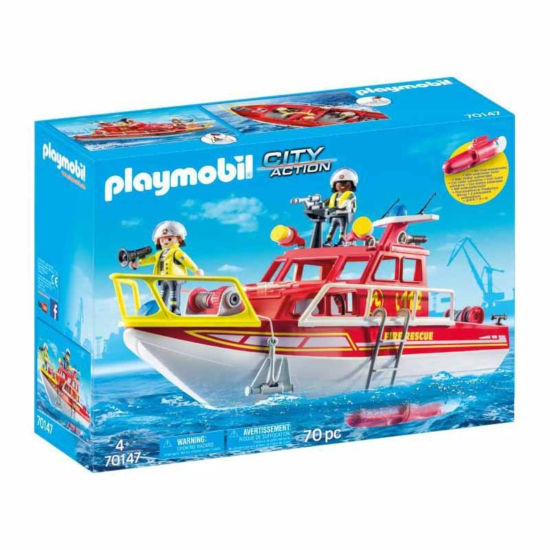 Playmobil City Action Barco de Bomberos