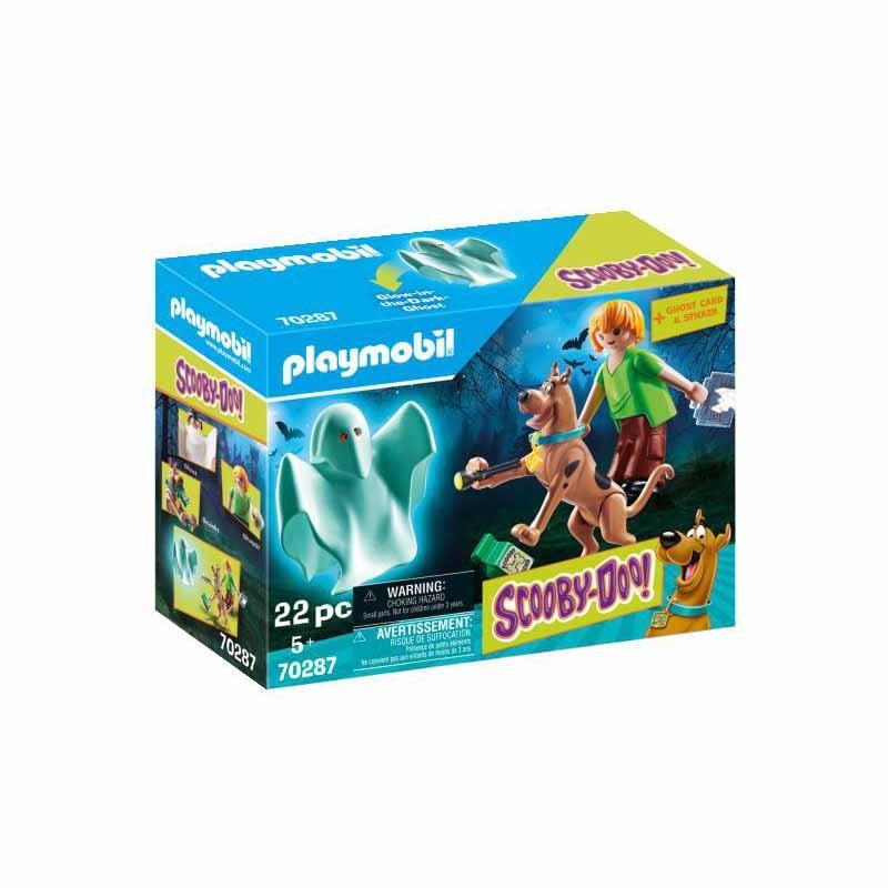 Playmobil Scooby-Doo Scooby y Shaggy con Fantasma