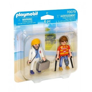 Playmobil City Life Pack Doctora y Paciente