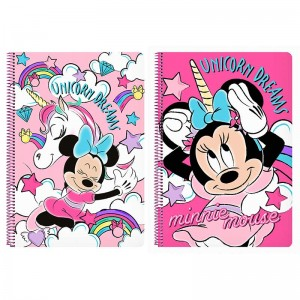 LIBRETA 80 H. TAPAS DURAS MINNIE MOUSE UNICORN