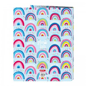 CARPETA DE ANILLAS GLOWLAB RAINBOW