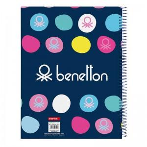 BLOC A4 MICRO120 H BENETTON TOPOS MARINO