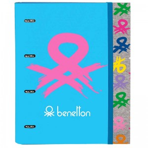 CARPETA 4 ANILLAS 30MM BENETTON LOGO