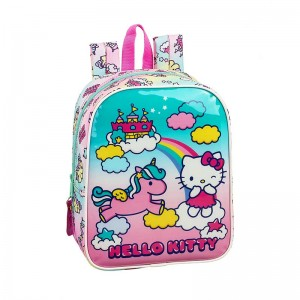 MOCHILA GUARDERIA ADAPTABLE HELLO KITTY CANDY