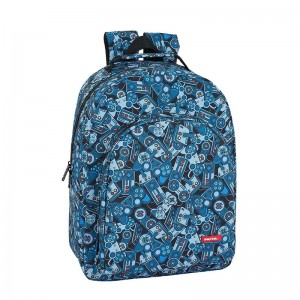 MOCHILA ADAPTABLE SAFTA WELCOME GAMERS BLUE