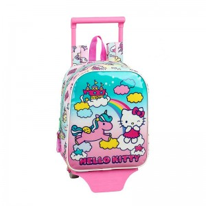 MOCHILA CON CARRO HELLO KITTY CANDY UNICORNS