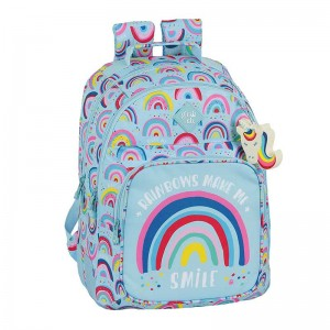 MOCHILA DOBLE ADAPTABLE CARRO GLOWLAB RAINBOW