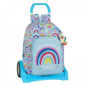 MOCHILA CON CARRO EVOLUTION GLOWLAB RAINBOW