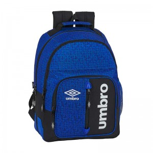 MOCHILA DOBLE ADAPTABLE CARRO UMBRO BLACK & BLUE