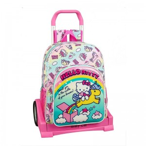 MOCHILA + CARRO EVO. HELLO KITTY CANDY UNICORNS