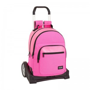 MOCHILA + CARRO EVOLUTION BLACKFIT8 ROSA