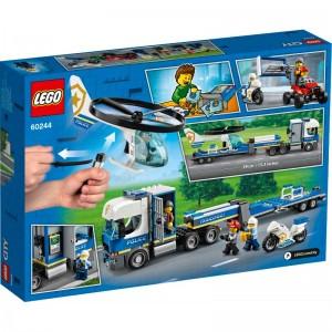 LEGO City Camión de Transporte de Policia y Helicóptero