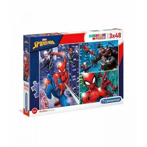 Puzzle 3x48 Piezas Marvel Spiderman