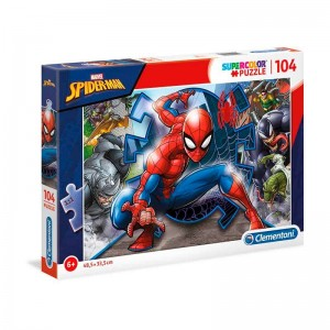 Puzzle  104  Piezas Marvel Spiderman
