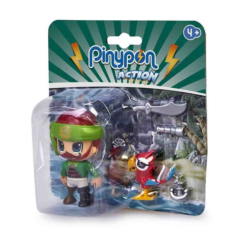 Pinypon Action Pirata y Mascota