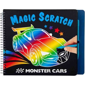 Monster Cars Cuaderno Magic-Scratch