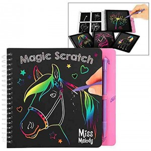 Miss model Libro para Colorear Magic Scratch