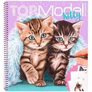 Top Model Libro para Colorear Crea tu Gato