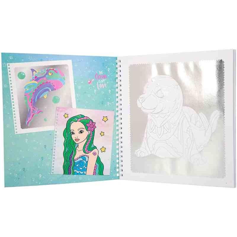 Fantasy Model Libro para Colorear Silver