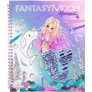 Fantasy Model Mermaid Libro para Colorear