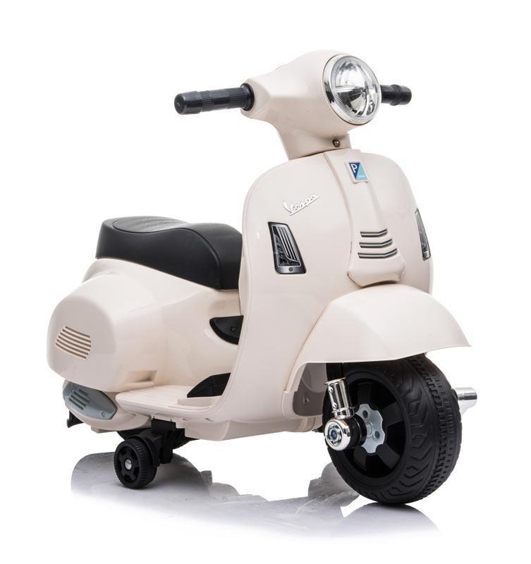 Mini Moto de Batería Vespa Blanca