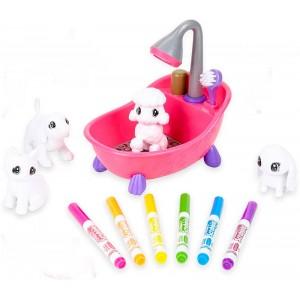 Bañera Washimals y 4 mascotas