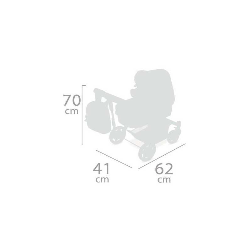 Cochecito de Muñecas Plegable Sky 3x1
