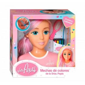 Busto Mechas de Colores Srta Pepis