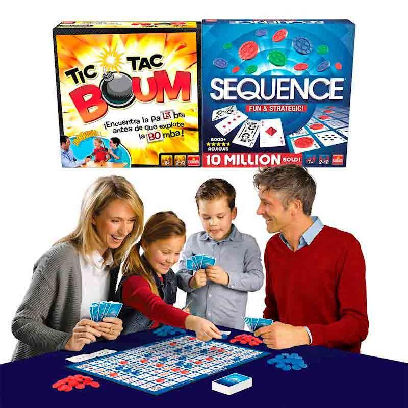 2 en 1 Juegos Tic Tac Boum y Sequence