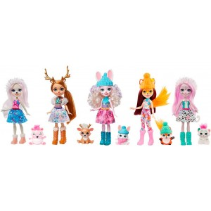 Enchantimals Pack De 5 Con Mascotas