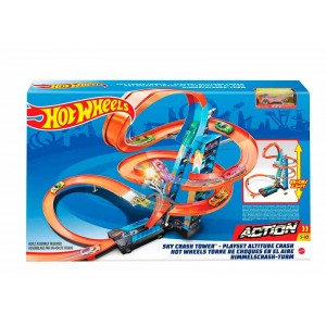 Pista Hot Wheels Torre de Choque Aéreo