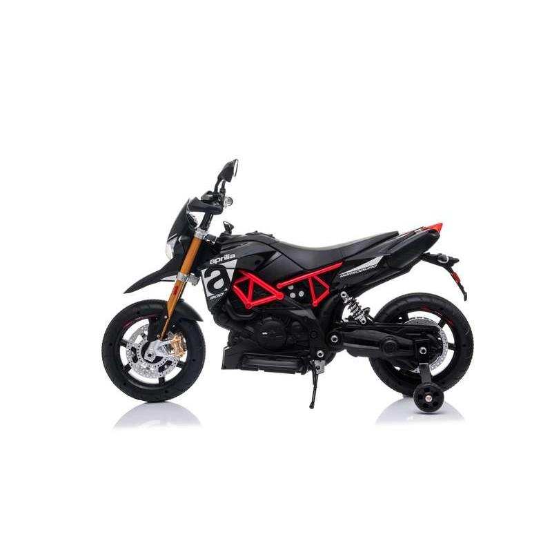 Moto Aprilia para Niños Negra de Batería 12V