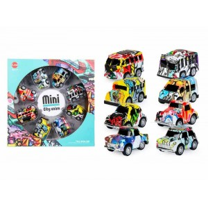 Pack 8 Mini Coches Graffiti Infantil