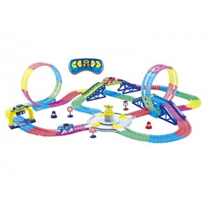 Pista Doble Looping con Led Infantil