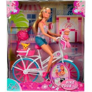 Steffi Love con Bicicleta