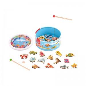 Juego de Pesca de Madera Infantil
