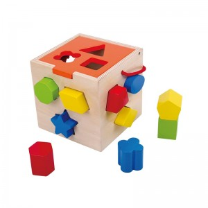 Cubo Infantil Bloques de Madera