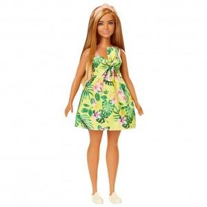 Barbie Fashionistas Vestido Tropical Amarillo