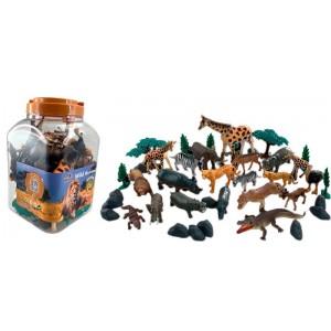 Cubo 40 Piezas Animales Salvajes