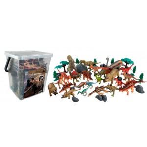 Cubo Cuadrado 45 Piezas Dinosaurios